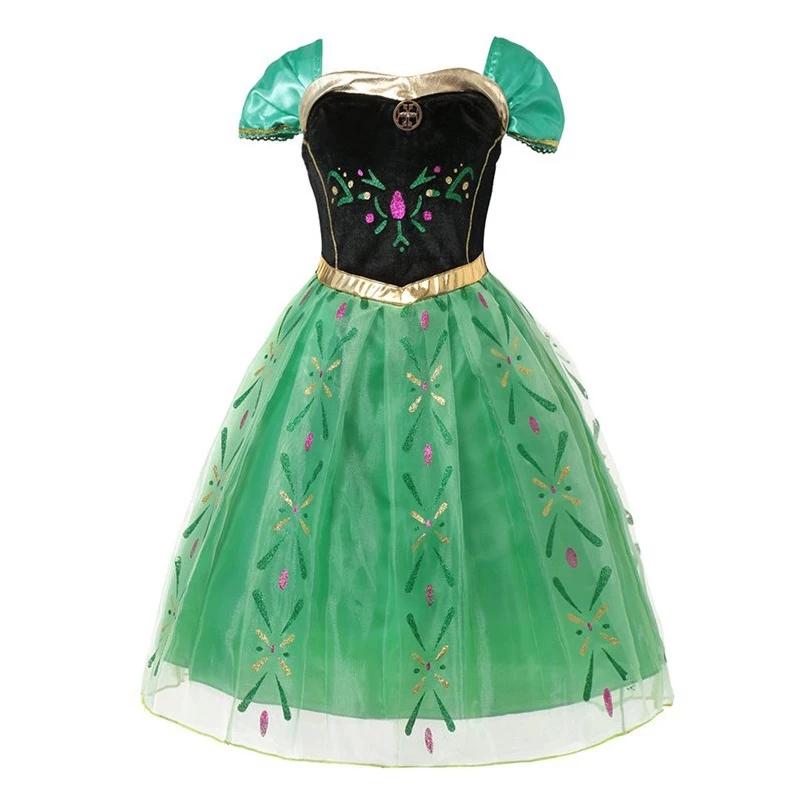 Frozen jurk Anna Groen