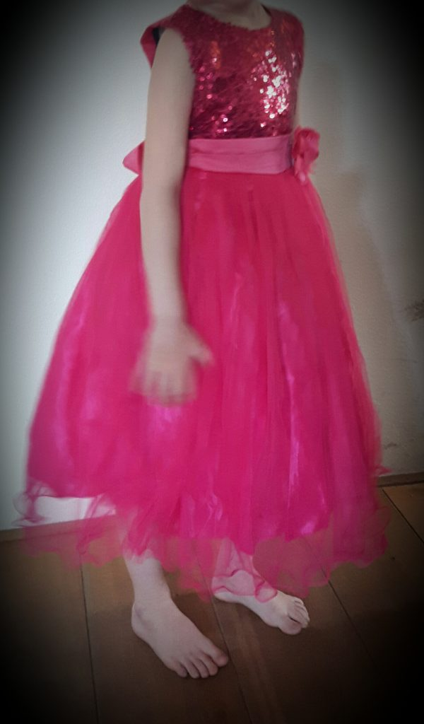 Prinsessenjurk Donker roze - Bij Bambini