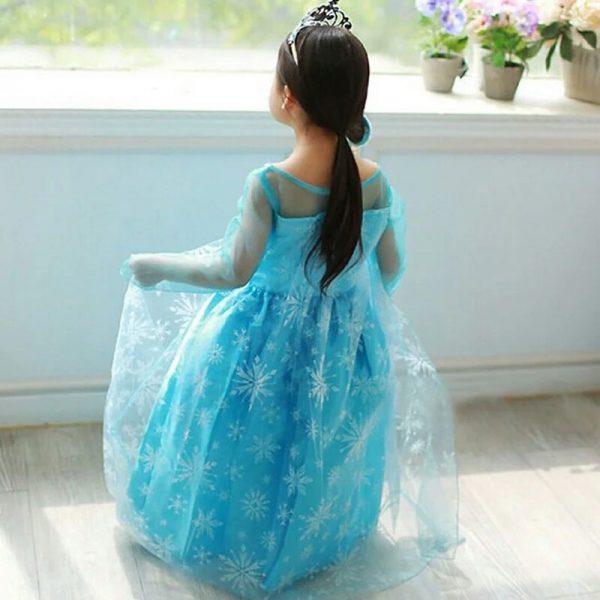 Frozen jurk Elsa met sleep