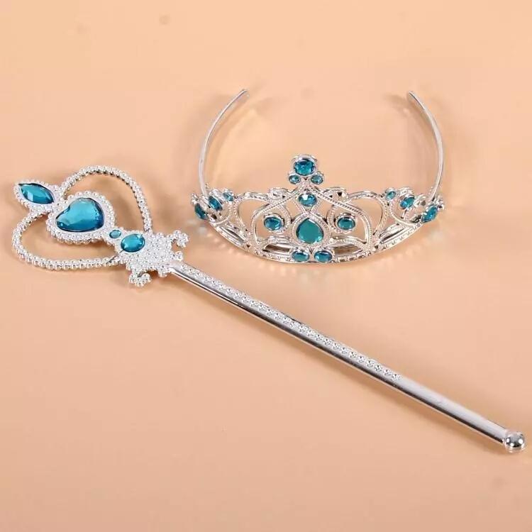 Frozen Elsa tiara met stafje - Bij Bambini