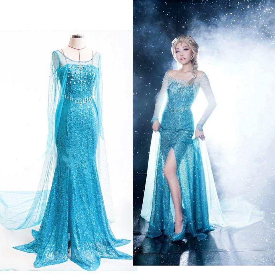 Verwonderlijk Elsa jurk volwassenen - Bij Bambini Verkleedkleding RT-07