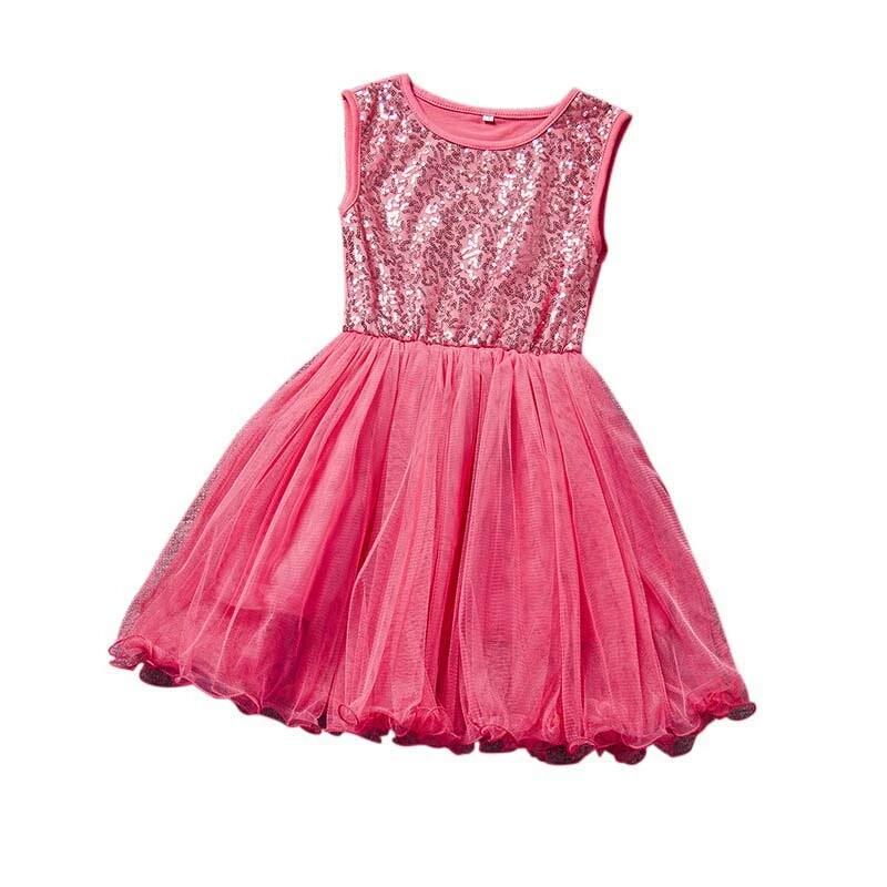 Glitterjurk - Roze - Bij Bambini