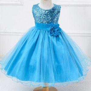 Feestjurk Kind Blauw - Bij Bambini Verkleedkleding