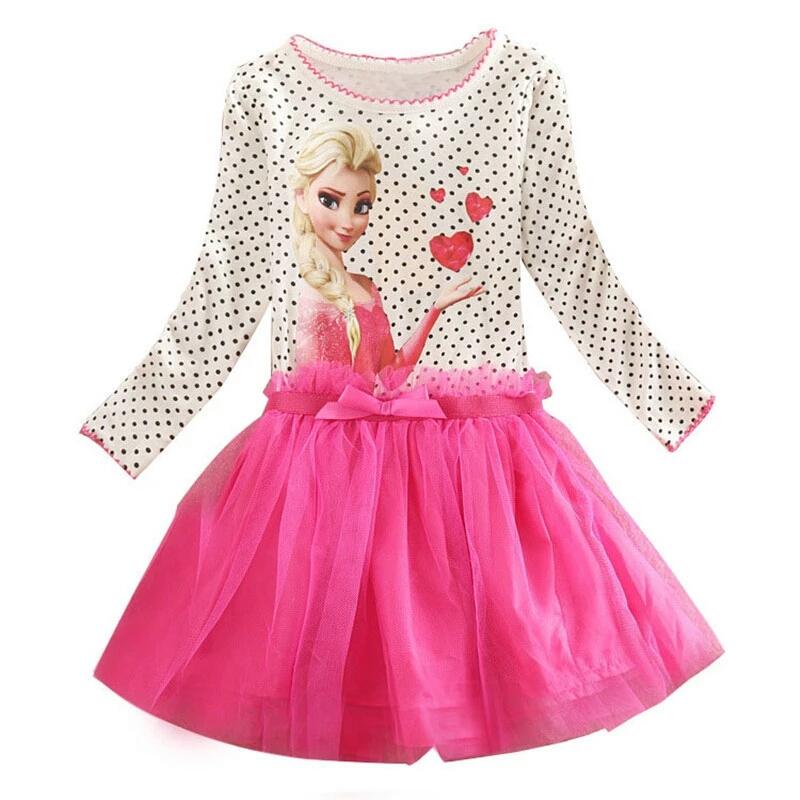 Frozen jurk met roze tutu - Bij Bambini