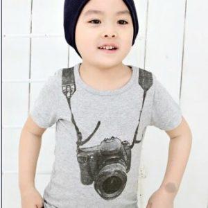 T-shirt Grijs - Bij Bambini