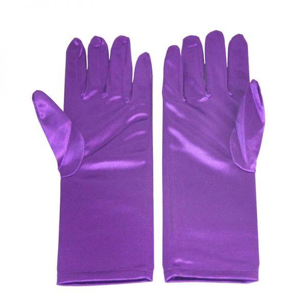 Paarse handschoenen verkleedkleding - Bij Bambini