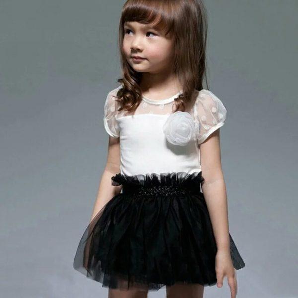 Feestjurk Wit-zwart Bij Bambini