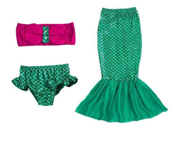 Kleine zeemeermin bikini/pak - Bij Bambini