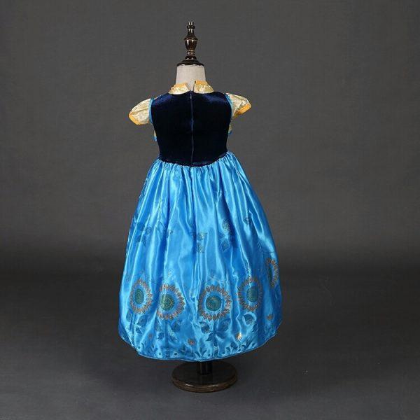 Prinses Anna Frozen jurk achterkant - Bij Bambini