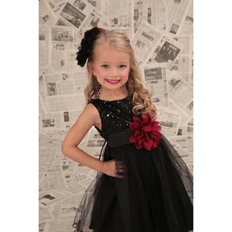 Feestjurk met glitters Zwart - Bij Bambini