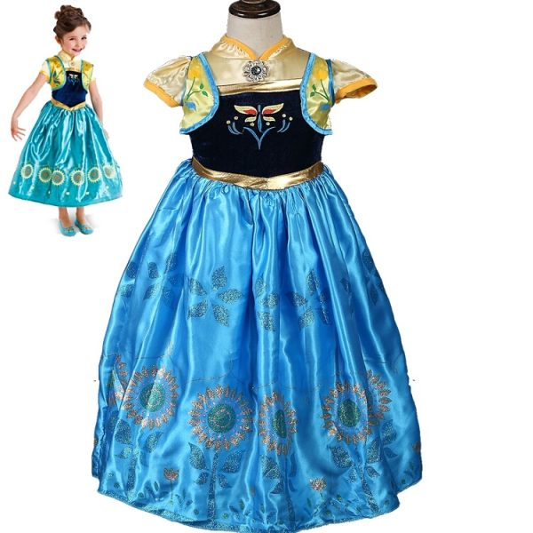 Prinses Anna Frozen jurk - Bij Bambini