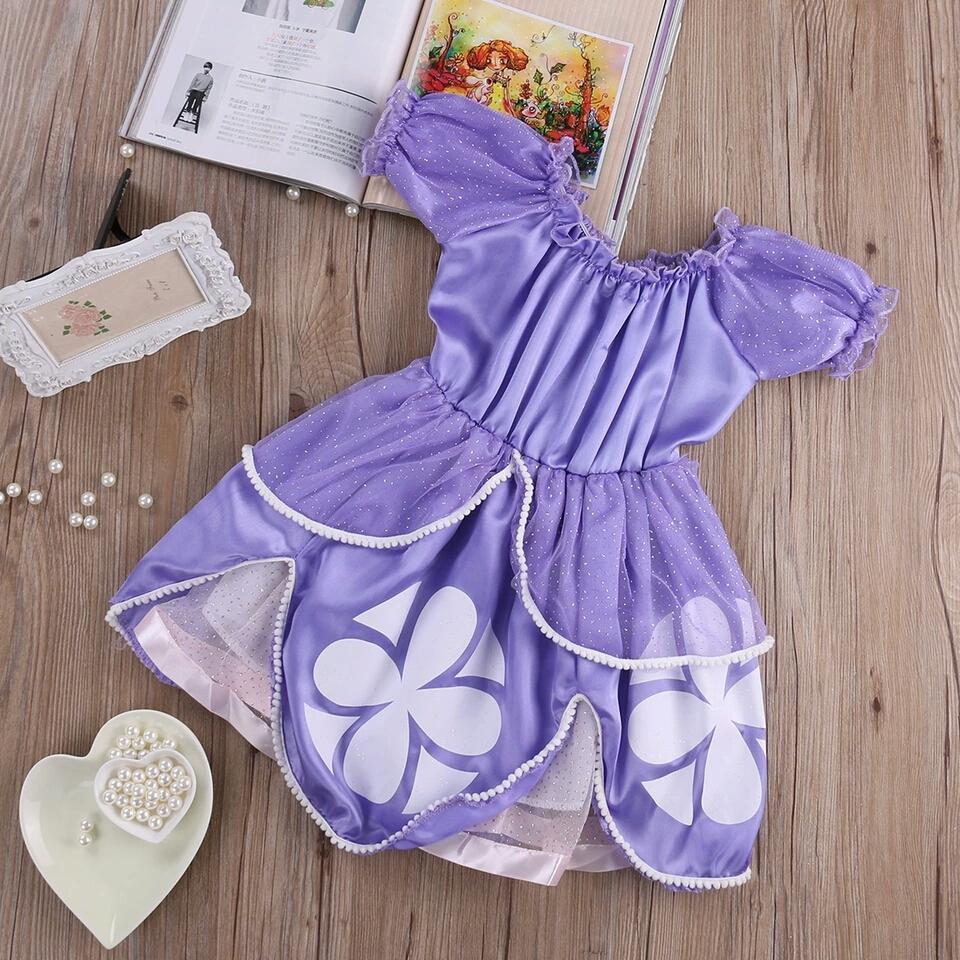 Prinses Sofia jurk achterkant - Bij Bambini