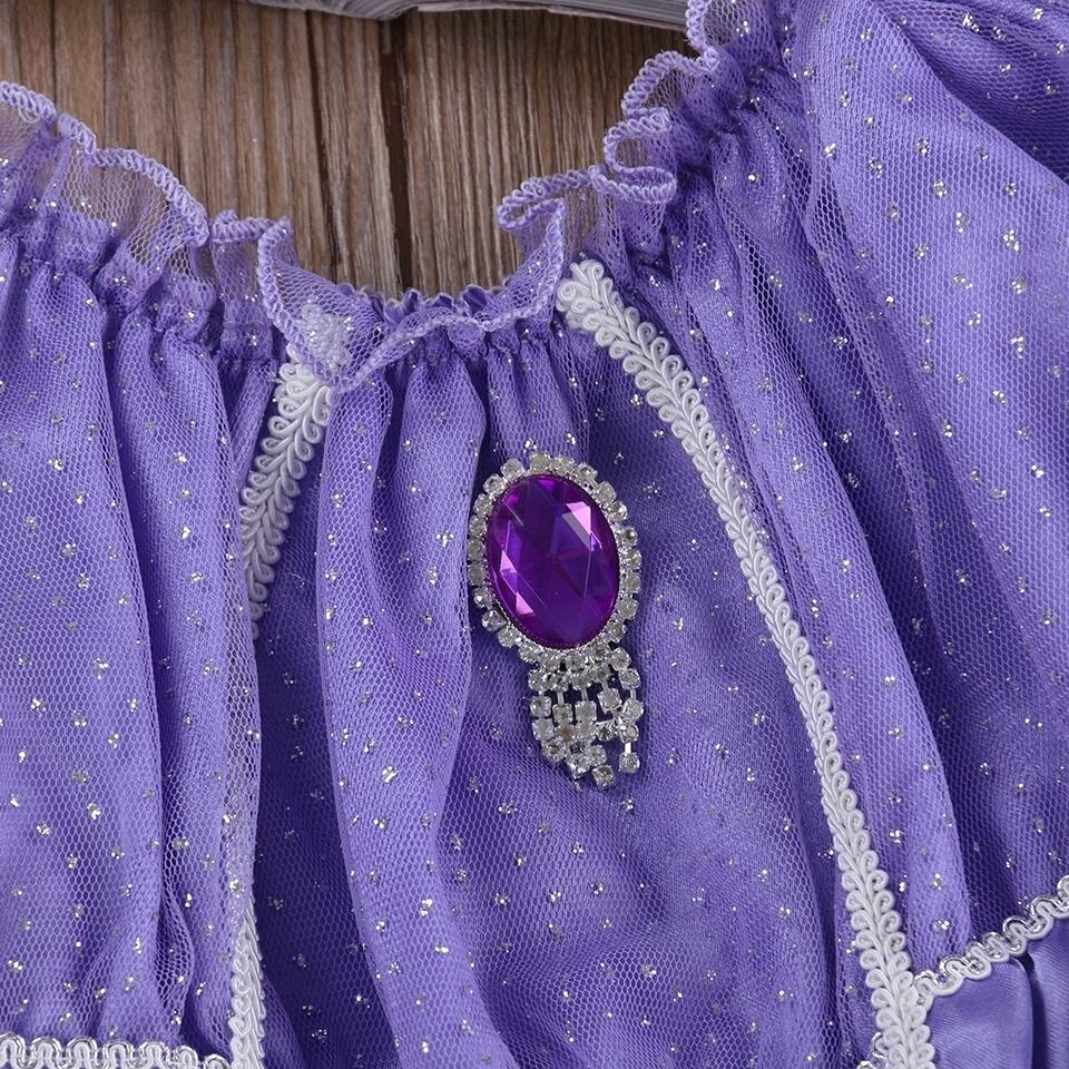 Prinses Sofia jurk ingezoomd - Bij Bambini