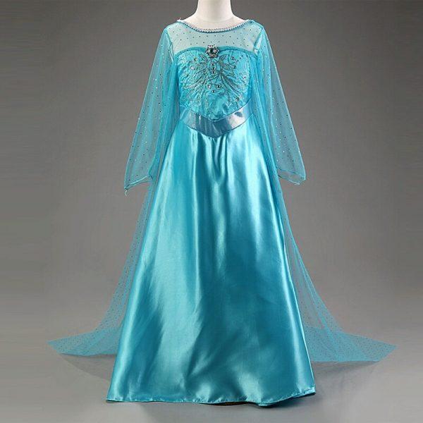 Elsa jurk - tot de grond - Bij Bambini