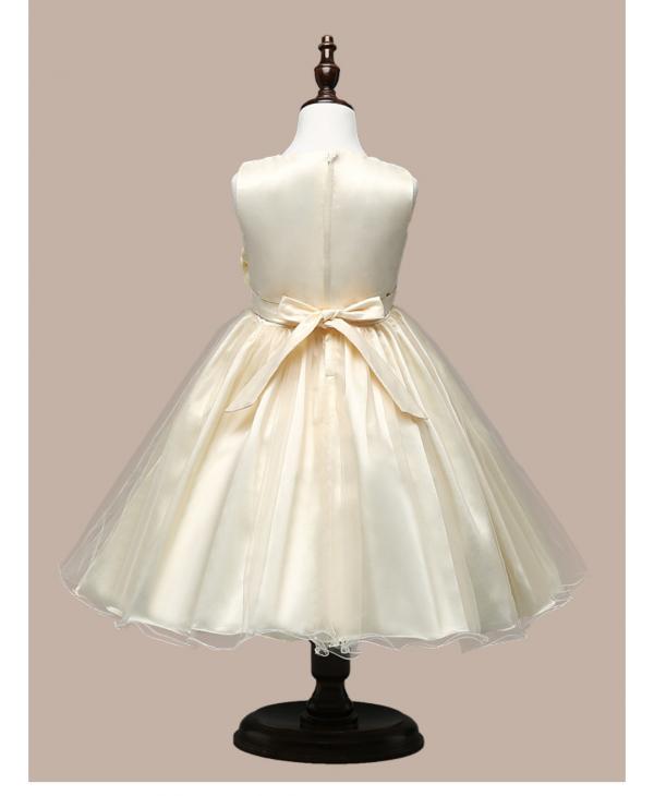 Bruidsmeisjes jurk - champagne - Bij Bambini