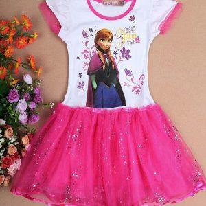 Frozen jurkje tutu roze - Bij Bambini