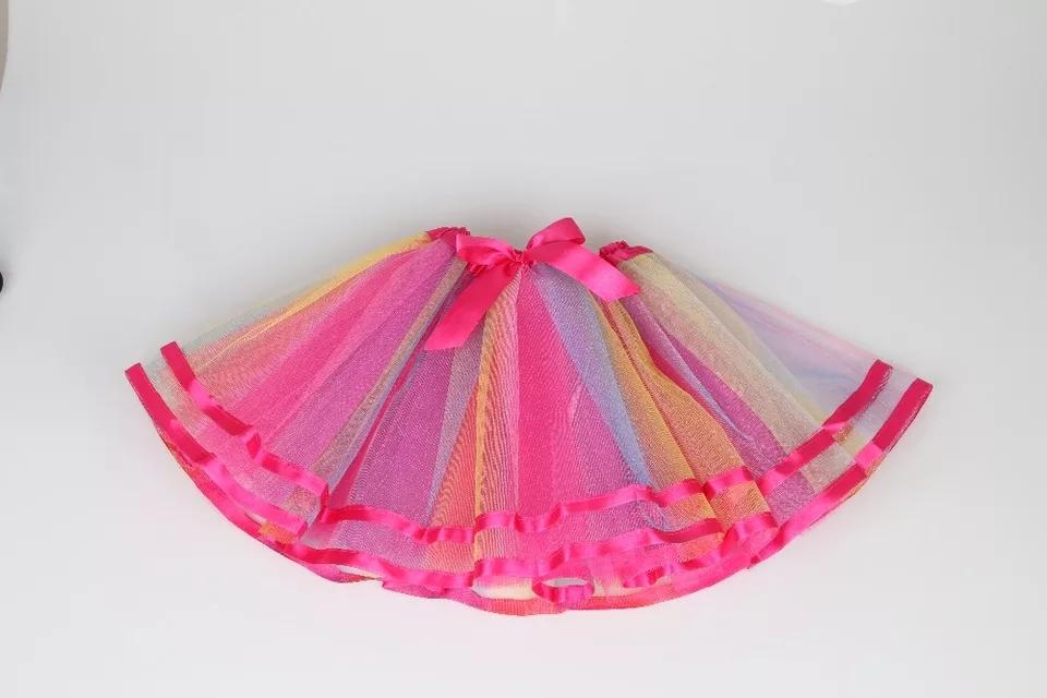 Tutu rokje - Regenboog - Bij Bambini Verkleedkleding